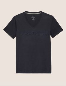 ARMANI EXCHANGE DEBOSSED TONAL LOGO TEE Logo T-shirt Man r