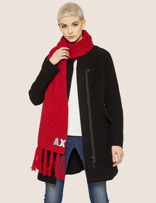 ARMANI EXCHANGE EMBROIDERED GLITTER FRINGED SCARF Scarf Woman r