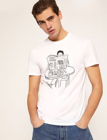 ARMANI EXCHANGE アニメーションプリントTシャツ ロゴTシャツ メンズ a