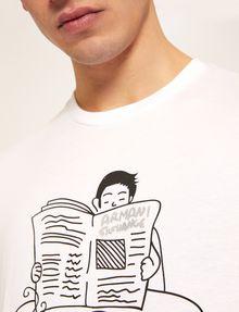 ARMANI EXCHANGE CARTOON READER LOGO TEE Graphic T-shirt [*** pickupInStoreShippingNotGuaranteed_info ***] b