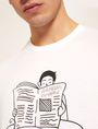 ARMANI EXCHANGE CARTOON READER LOGO TEE Graphic T-shirt Man b