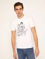 ARMANI EXCHANGE CARTOON READER LOGO TEE Graphic T-shirt Man f