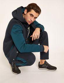 ARMANI EXCHANGE WORLD LOGO HOODED VARSITY JACKET Sweatshirt Man a