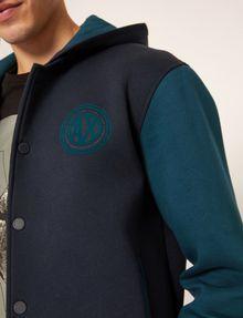 ARMANI EXCHANGE WORLD LOGO HOODED VARSITY JACKET Sweatshirt Man b