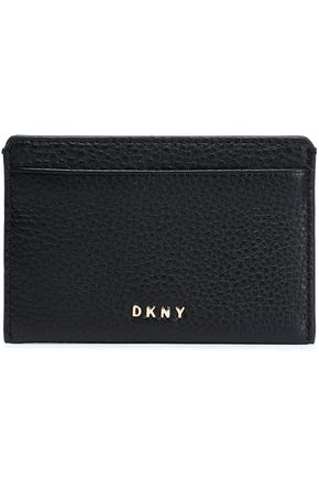 DKNY Textured-leather cardholder