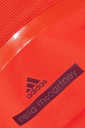 ADIDAS by STELLA McCARTNEY Training ribbed jersey-paneled stretch tank