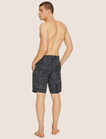 ARMANI EXCHANGE ALLOVER LOGO OUTLINE SWIM SHORT Trunk [*** pickupInStoreShippingNotGuaranteed_info ***] e