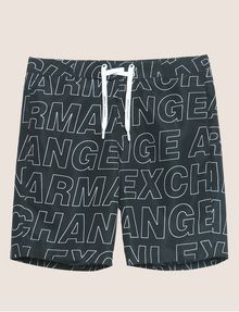 ARMANI EXCHANGE ALLOVER LOGO OUTLINE SWIM SHORT Trunk [*** pickupInStoreShippingNotGuaranteed_info ***] r