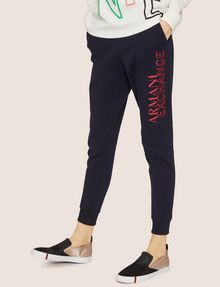 ARMANI EXCHANGE POSITIVE/NEGATIVE LOGO SWEATPANT Fleece Trouser Woman f