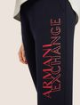 ARMANI EXCHANGE POSITIVE/NEGATIVE LOGO SWEATPANT Fleece Trouser Woman b