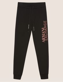ARMANI EXCHANGE POSITIVE/NEGATIVE LOGO SWEATPANT Fleece Pant Woman r