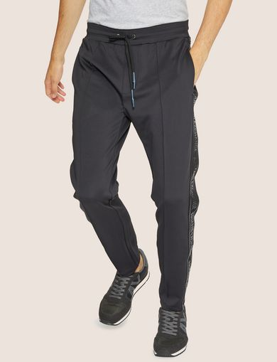 HIGH-SHINE LOGO TAPE SWEATPANT