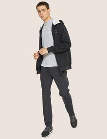 ARMANI EXCHANGE HIGH-SHINE LOGO TAPE SWEATPANT Fleece Trouser Man d