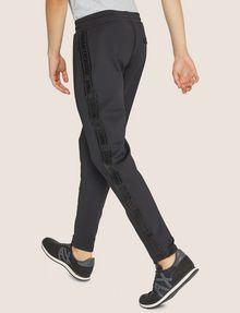 ARMANI EXCHANGE HIGH-SHINE LOGO TAPE SWEATPANT Fleece Trouser Man e