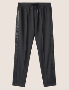 ARMANI EXCHANGE HIGH-SHINE LOGO TAPE SWEATPANT Fleece Trouser Man r