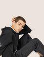 ARMANI EXCHANGE HIGH-SHINE LOGO TAPE SWEATPANT Fleece Trouser Man a