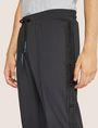 ARMANI EXCHANGE HIGH-SHINE LOGO TAPE SWEATPANT Fleece Trouser Man b