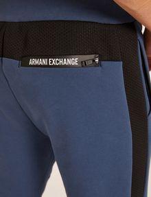ARMANI EXCHANGE MESH PANELED LOGO TAPE SWEATPANT Fleece Pant [*** pickupInStoreShippingNotGuaranteed_info ***] b