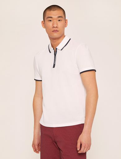 LOGO TAPE QUARTER-ZIP POLO