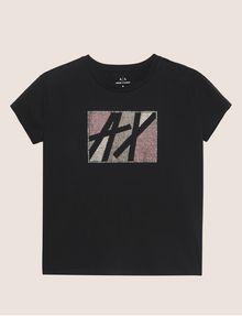 ARMANI EXCHANGE STUDDED MARQUEE LOGO CREW Logo T-shirt [*** pickupInStoreShipping_info ***] r