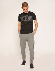 ARMANI EXCHANGE MESH PANELED LOGO TAPE SWEATPANT Fleece Pant [*** pickupInStoreShippingNotGuaranteed_info ***] d