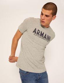 ARMANI EXCHANGE SLIM-FIT OVERLAY DECO CREW Logo T-shirt Man a