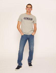 ARMANI EXCHANGE SLIM-FIT OVERLAY DECO CREW Logo T-shirt Man d