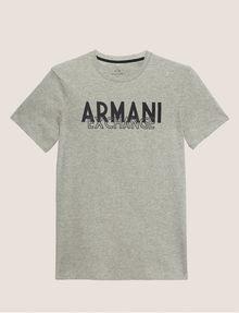 ARMANI EXCHANGE SLIM-FIT OVERLAY DECO CREW Logo T-shirt Man r