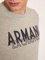 ARMANI EXCHANGE SLIM-FIT OVERLAY DECO CREW Logo T-shirt Man b