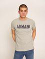 ARMANI EXCHANGE SLIM-FIT OVERLAY DECO CREW Logo T-shirt Man f