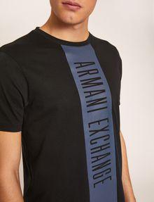 ARMANI EXCHANGE REGULAR-FIT VERTICAL STRIPE CREW Logo T-shirt Man b