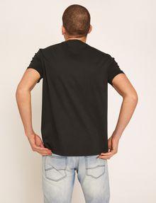 ARMANI EXCHANGE REGULAR-FIT VERTICAL STRIPE CREW Logo T-shirt Man e
