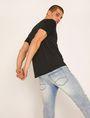 ARMANI EXCHANGE REGULAR-FIT VERTICAL STRIPE CREW Logo T-shirt Man a