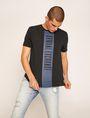 ARMANI EXCHANGE REGULAR-FIT VERTICAL STRIPE CREW Logo T-shirt Man f