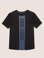 ARMANI EXCHANGE REGULAR-FIT VERTICAL STRIPE CREW Logo T-shirt Man r