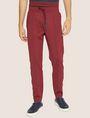 ARMANI EXCHANGE HIGH-SHINE LOGO TAPE SWEATPANT Fleece Pant Man f