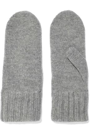 IRIS & INK Jeanne mélange wool and cashmere-blend mittens