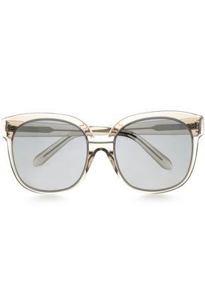 LINDA FARROW D-frame acetate sunglasses