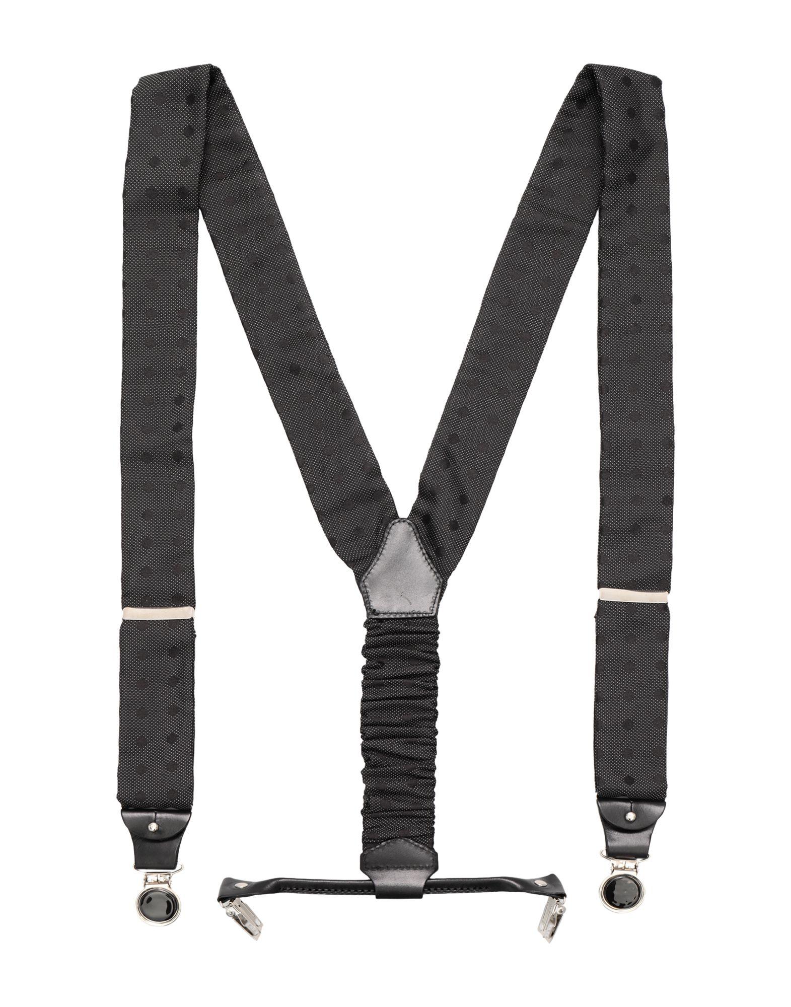 《送料無料》COR SINE LABE DOLI メンズ サスペンダー グレー 紡績繊維 100% BRATELLA FANTASIA POIS