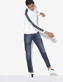 ARMANI EXCHANGE REFLECTIVE LOGO TAPE BOMBER JACKET Fleece Jacket [*** pickupInStoreShippingNotGuaranteed_info ***] a