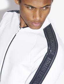 ARMANI EXCHANGE REFLECTIVE LOGO TAPE BOMBER JACKET Fleece Jacket [*** pickupInStoreShippingNotGuaranteed_info ***] b