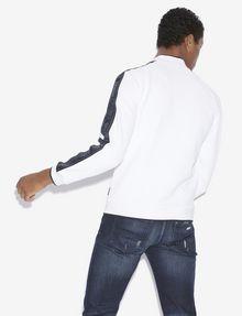 ARMANI EXCHANGE REFLECTIVE LOGO TAPE BOMBER JACKET Fleece Jacket Man e