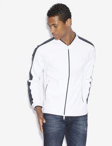 ARMANI EXCHANGE REFLECTIVE LOGO TAPE BOMBER JACKET Fleece Jacket [*** pickupInStoreShippingNotGuaranteed_info ***] f