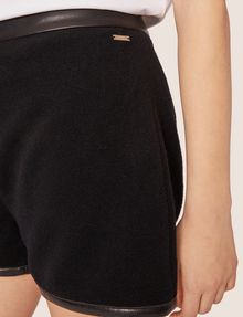 ARMANI EXCHANGE FAUX-LEATHER TRIMMED WOOL BLEND SHORT Shorts [*** pickupInStoreShipping_info ***] b