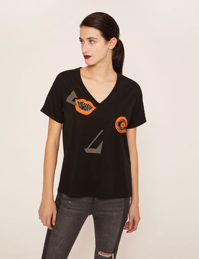 ARMANI EXCHANGE Non-Logo Tee Woman F