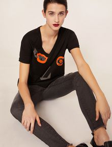 ARMANI EXCHANGE ABSTRACT FACE LOGO TEE Graphic T-shirt [*** pickupInStoreShipping_info ***] a