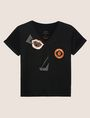 ARMANI EXCHANGE ABSTRACT FACE LOGO TEE Graphic T-shirt [*** pickupInStoreShipping_info ***] r