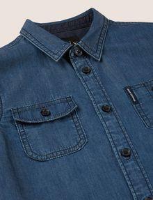 ARMANI EXCHANGE BOYS REGULAR-FIT DENIM WORKSHIRT Denim Shirt Man d