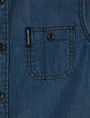 ARMANI EXCHANGE BOYS REGULAR-FIT DENIM WORKSHIRT Denim Shirt Man e
