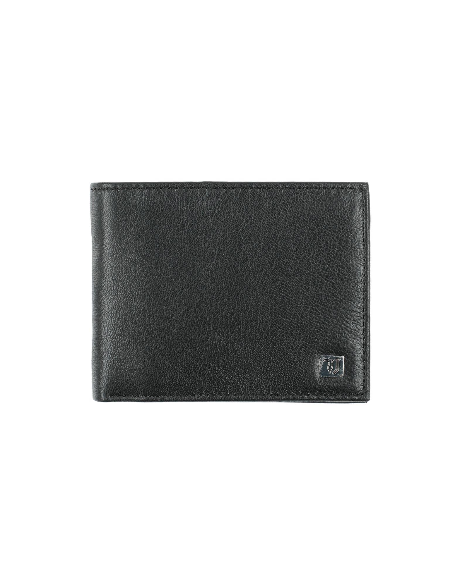 《セール開催中》TRUSSARDI JEANS メンズ 財布 ブラック 革